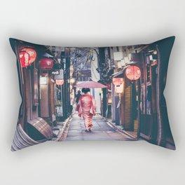 Geisha In Kyoto Rectangular Pillow