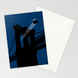 A UFO flies in Brooklyn Stationery Cards