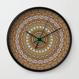 New Color Pyramidal Mandala 44 Wall Clock