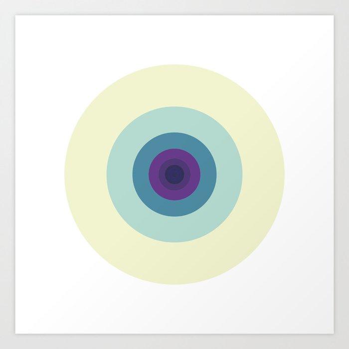 #427 Fibonacci's left eye – Geometry Daily Art Print