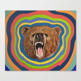 Retro Bear Canvas Print