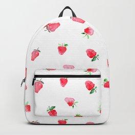 Baby strawberries || watercolor Backpack