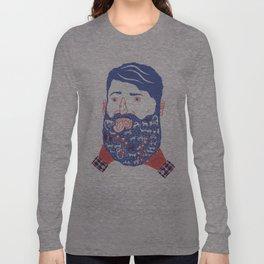 Animals in Beard Long Sleeve T-shirt