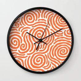 Ripple Effect Pattern Orange Wall Clock
