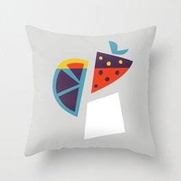 Strawberry Cocktail Throw Pillow