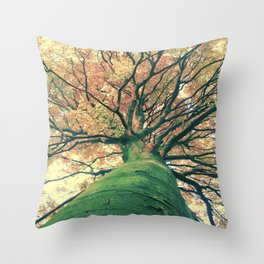 The big strong tree Throw Pillow