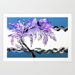 Grey and Purple Art Print