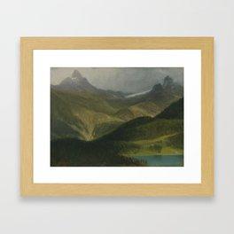 Albert Bierstadt, Mountain landscape Framed Art Print