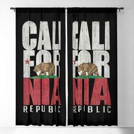 Cali Bear Flag in grungy textures Blackout Curtain