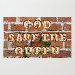 God save the Queen - Brick Rug