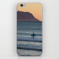 Surfer at sunset iPhone Skin