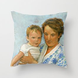 mother and child 2 Throw Pillow
