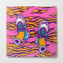 Pop sneakers Metal Print