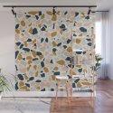 Terrazzo Mosaic Pattern, Gold, Navy, Blush Pink, Neutrals by meganmorrisart