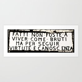 Dante's Sentence Art Print