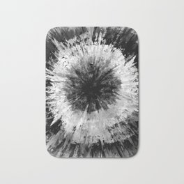 Black and White Tie Dye // Painted // Multi Media Bath Mat