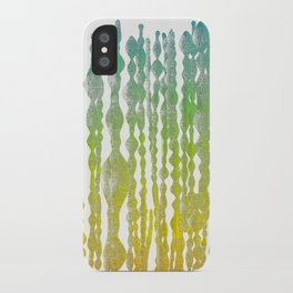 psychedelic stripes - green iPhone Case