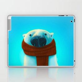 Polar bear with scarf Laptop & iPad Skin