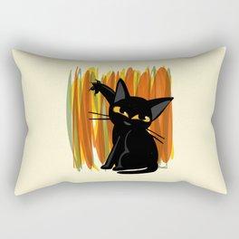 Cat artist Rectangular Pillow
