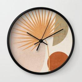 Tropical Leaf- Abstract Art 49a Wall Clock