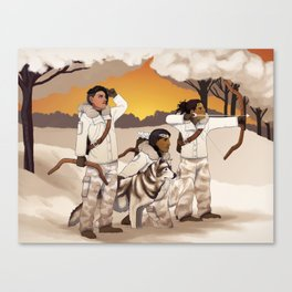 Hunters at Sunset Canvas Print