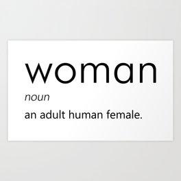 Woman (Definition) Art Print