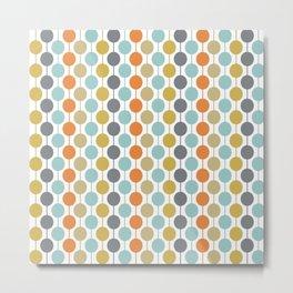 Retro Circles Mid Century Modern Background Metal Print