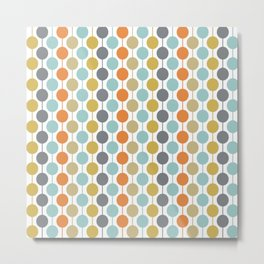 Retro Circles Mid Century Modern Background Metal Print