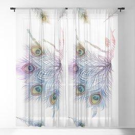 Peacock Dancer Sheer Curtain