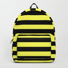 Stripes (Black & Yellow Pattern) Backpack