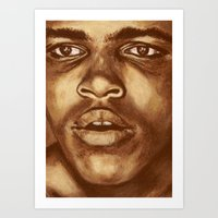 ali Art Prints featuring ALI by noblackcolor