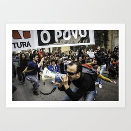 Protests in Coimbra Art Print