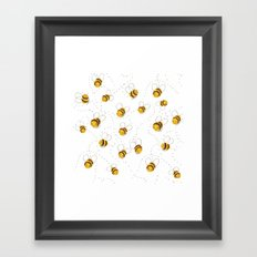 Busy buzzy bees Framed Art Print