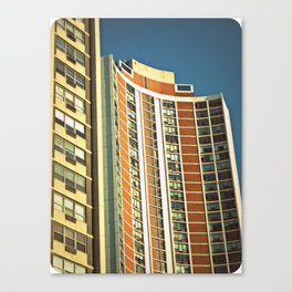 Lo-Fi Highrise ~ Mid-Century Architecture Canvas Print