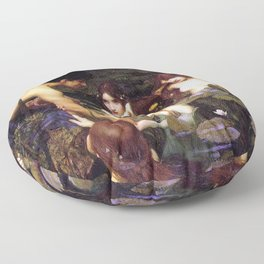 Hylas and the Nymphs,  John William Waterhouse Floor Pillow