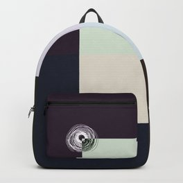 Spiral Lines 4 Dark and Light Colors Geometry Backpack