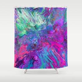 Dēmētría (Abstract 40) Shower Curtain