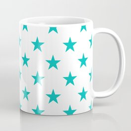 Stars (Eggshell Blue/White) Coffee Mug
