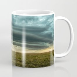 Filling the Void - Layered Storm in Western Nebraska Coffee Mug