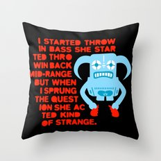 I started throwing bass Throw Pillow
