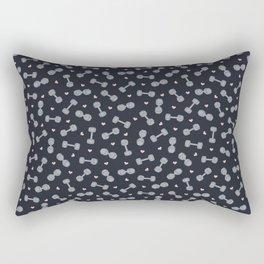 I LOVE STRENGTH (Dark Background Option) Rectangular Pillow