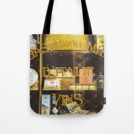 Gastronomie Italienne, Vins Tote Bag