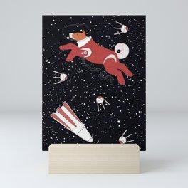 Laika - Space dog Mini Art Print