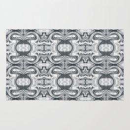Black and White Abstract Rug