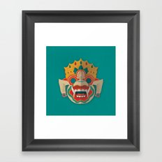 Paper Mask - Hanuman Framed Art Print