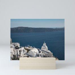 Thira, Santorini, Greece Mini Art Print