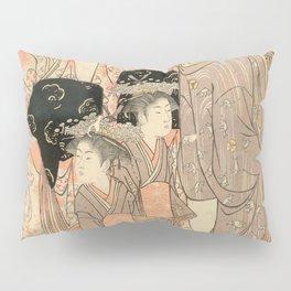 The Courtesans Maizumi Of The Daimonjiya Brothel Pillow Sham