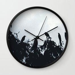 Bird Silhouette  Wall Clock