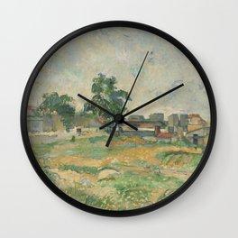 Paul Cézanne - Landscape near Paris Wall Clock