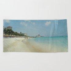 Vintage Aruba Beach Towel